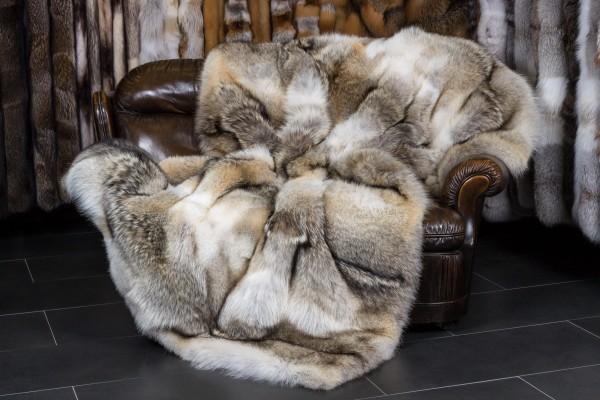 "Canadian Coyote Fur Throw - ""Top Lot Award"""