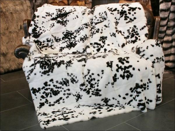 German Rex rabbit fur blanket