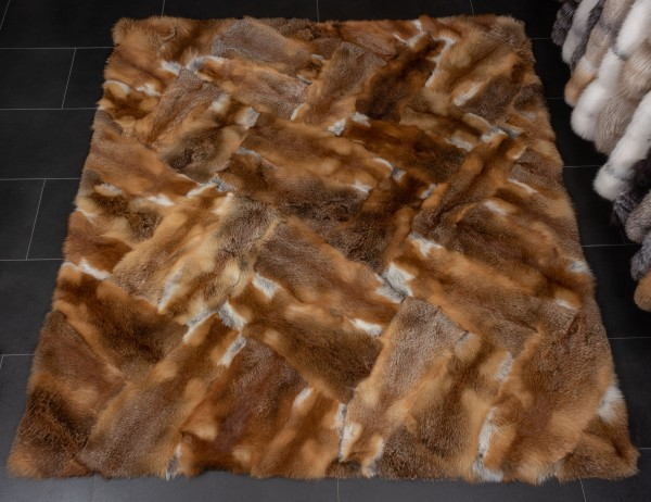 "European Red Fox Rug ""Patchwork-Design"""