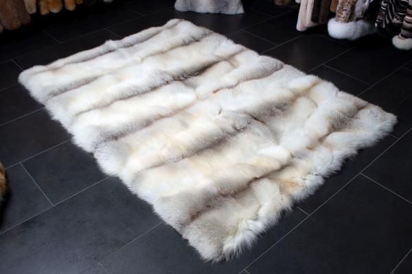 Cozy Fawnlight Fox Fur Carpet - Genuine Fur