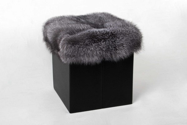 Blue Frost Fox Cube Real Fur
