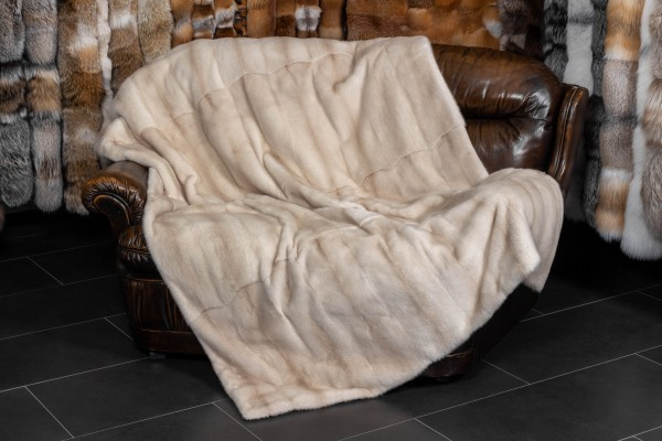 Real Mink Fur Throw made with Pearl Minks