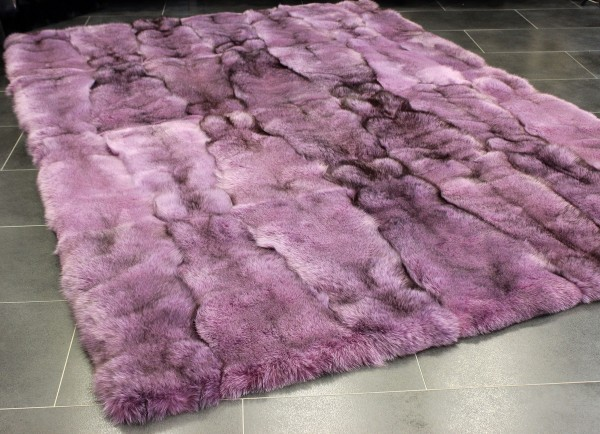 Fox Fur Carpet in pink