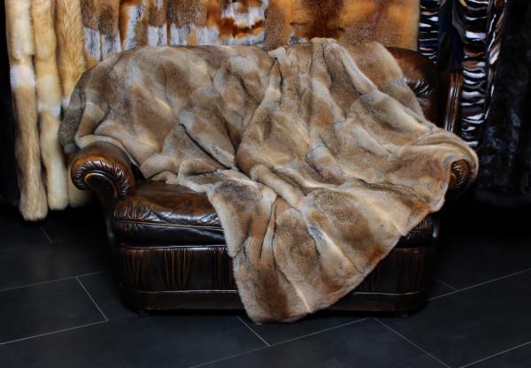Natural Rabbit Throw - Genuine Fur