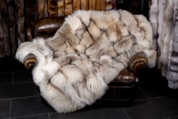 Fox Fur Blanket Smokey SAGA-Furs