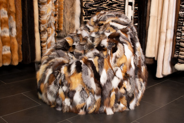 Bean Bag from Scandinavian Fox Sides - Real Fur