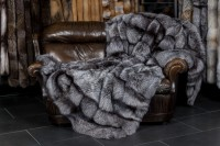 SAGA Silver Fox Fur Blanket - natural