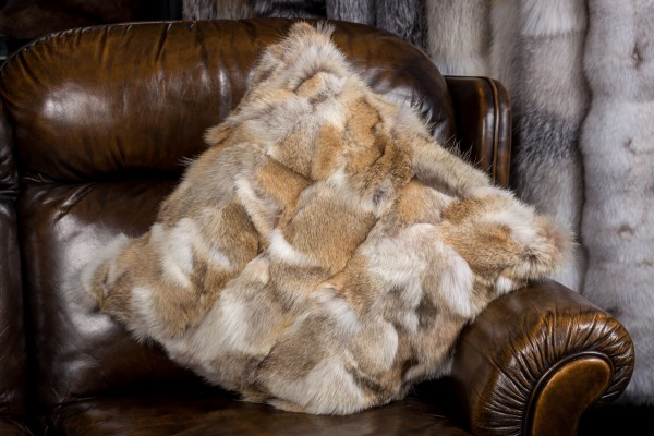 Fur Pillow Canadian Coyote Pieces