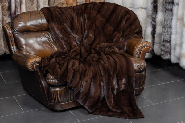 Mahagany Mink Fur Throw from Genuine Fur