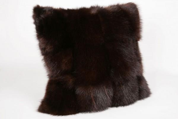 Skunk Fur Cover - Genuine Fur Pillow