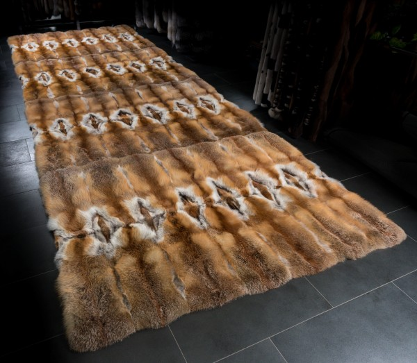 Large Fur Carpet from European Red Foxes