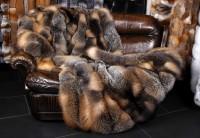 Canadian Wild Cross Fox Fur Throw