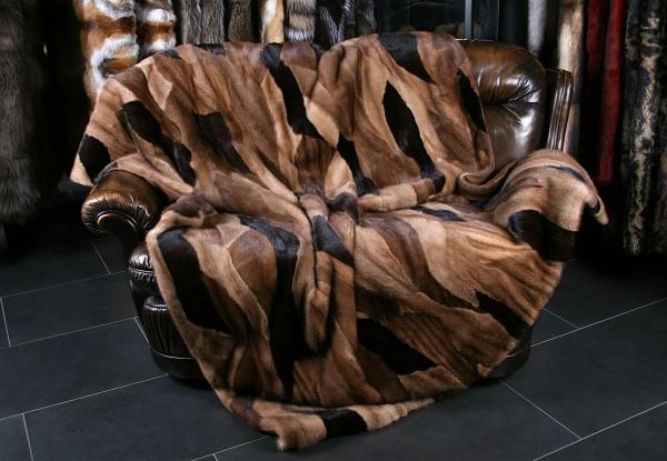 Patchwork Mink Fur blanket - Multicolor