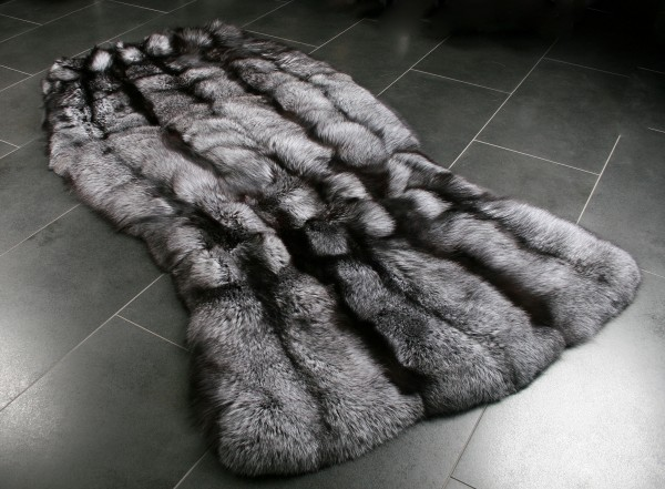 Scanadinavian Silverfox Fur Carpet