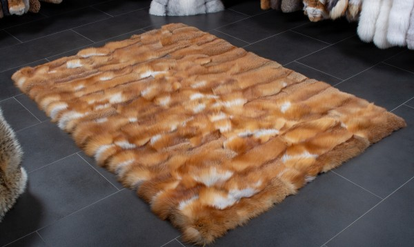 Red Fox Fur Carpet - Canadian Wild Furs