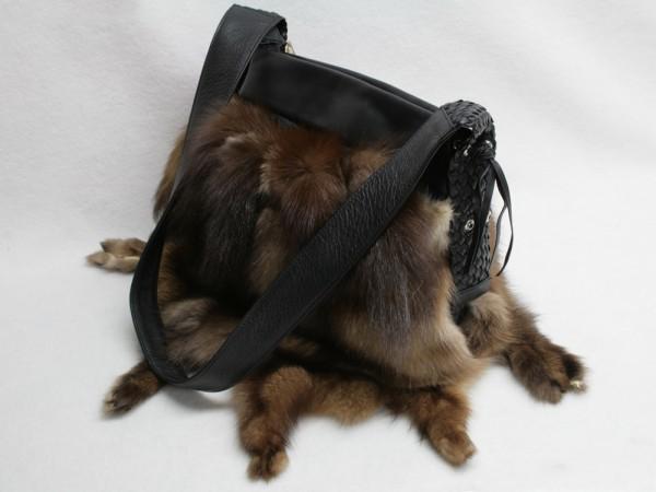 Stylish sable handbag made of authentic Barguzin sable