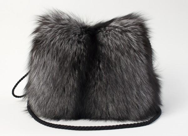 Luxury Silver Fox Fur Muff