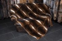 Castor Rex Rabbit Fur Blanket - Natural - very soft