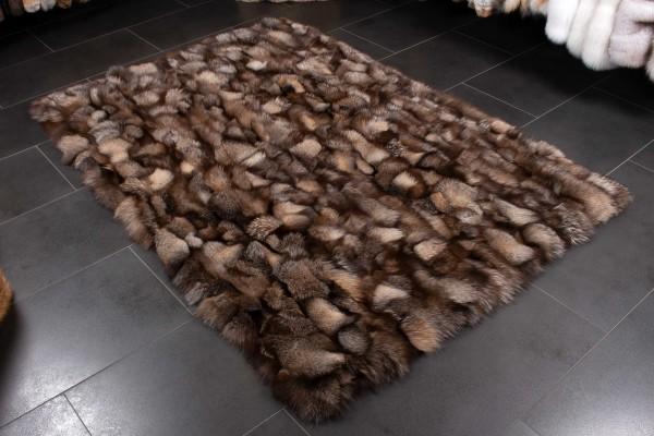 Shadow Blue Frost Pieces Fur Carpet