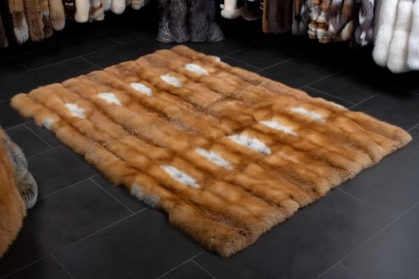 Piel real - alfombra de piel de zorro rojo canadiense
