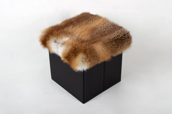 European Red Fox Fur Seat Cube