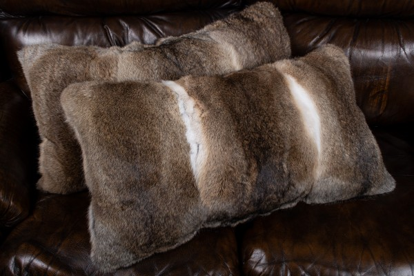 Rabbit Fur Cushion natural Color