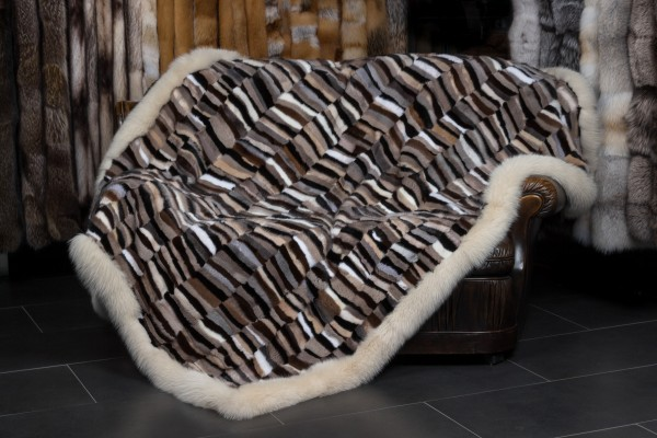 Fur Blanket made with Scandinavian Mink Pieces