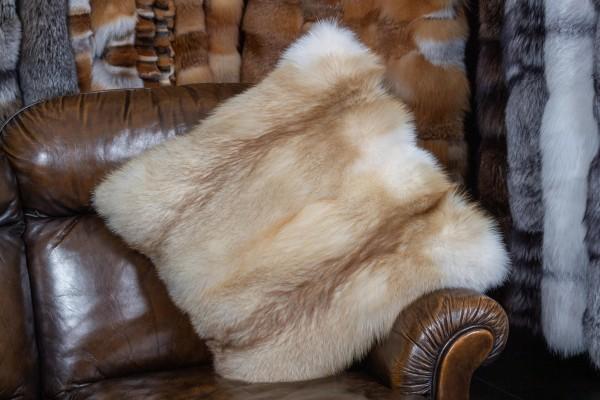 Fur Pillow European Red Fox Creme