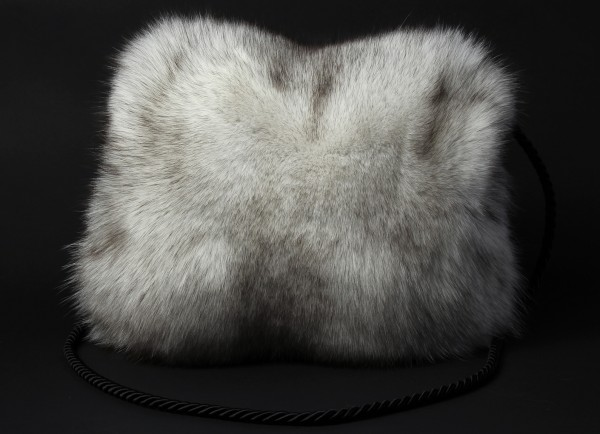 Fine Blue Fox Fur Muff