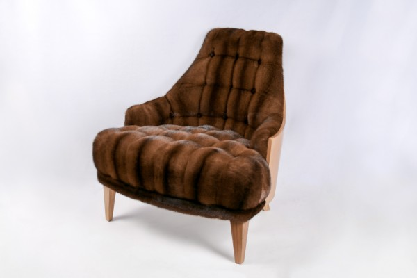 Mink Chair brown Kopenhagen Fur