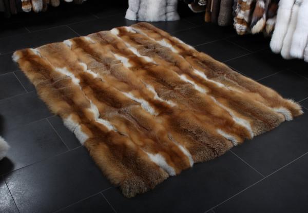 Covorul din blană de vulpe roșiatică - Naturală, Europeană