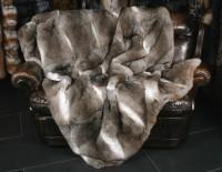 Rabbit Fur Blanket in Natural Colours