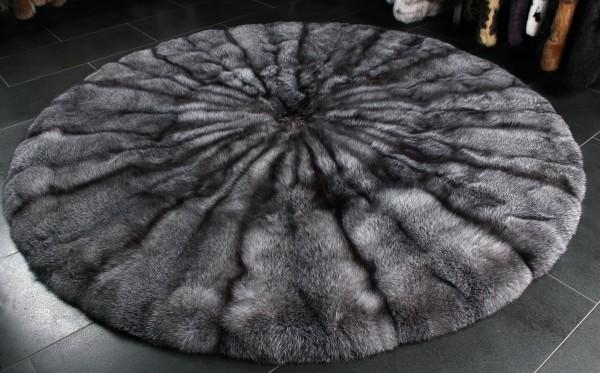 SAGA Blue Frost Fox Fur Carpet - natural color
