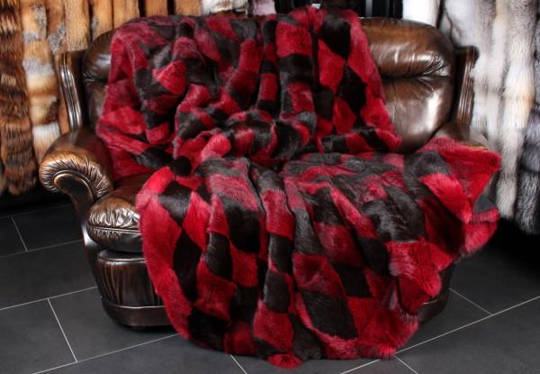 Real Fur Rabbit Blanket