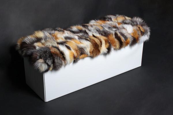 Special Ottoman with Genuine Fox Fur