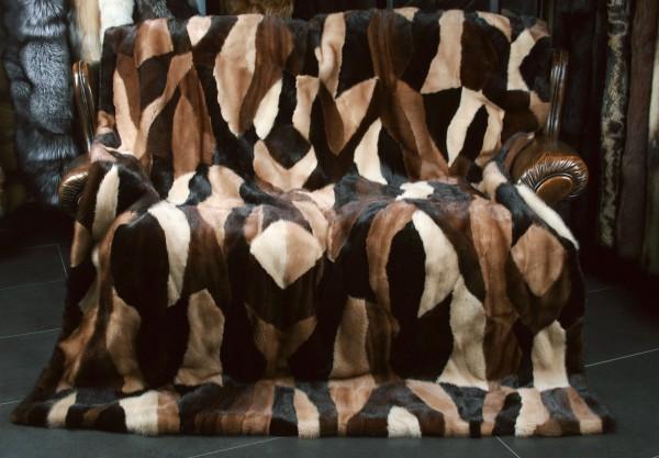 Special Mink Fur Blanket Multicolor