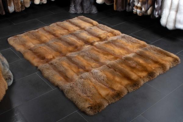 """European Red Fox Fur Carpet """"Almflair"""""""