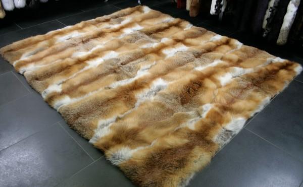 Red fox fur carpet - natural, european