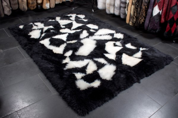 Australian Lambskin Rug black white