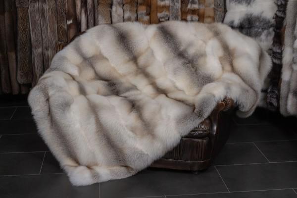 Natural Colored Fawnlight fur blanket (SAGA Fur)