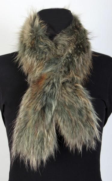 Racoon Fur Collar in Mint Green