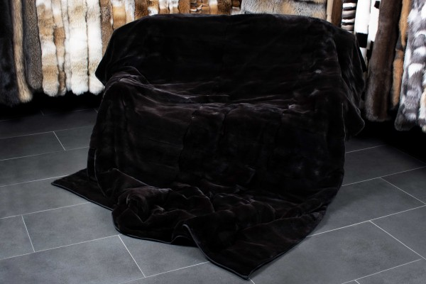 Plucked Mink Fur Blanket