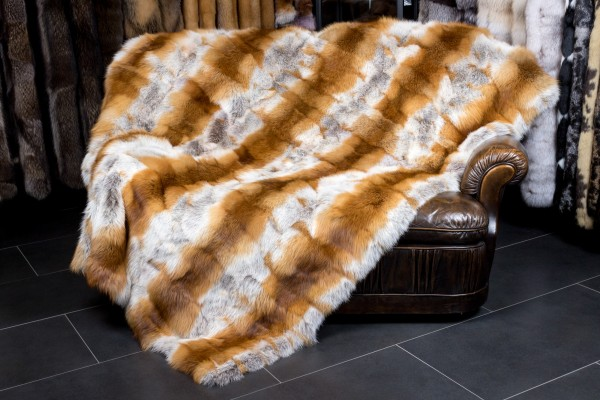 Canadian Red Fox Fur Throw NAFA
