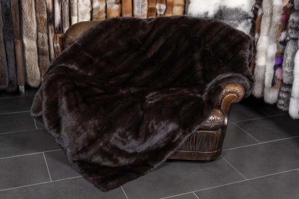"Luxurious Sable Fur Throw ""Gray Smoke"""