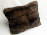 Barguzin sable fur pillow with silverys