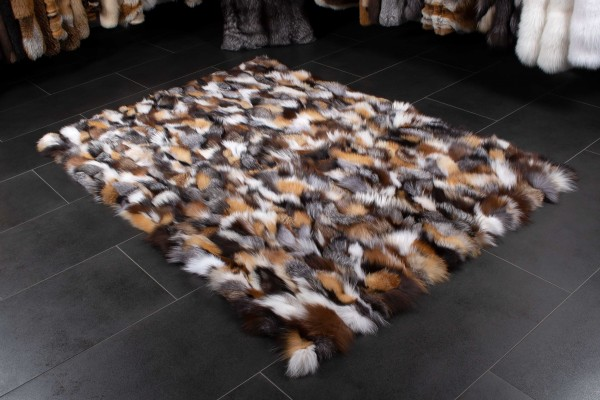 Alfombra escandinava de piel de zorro