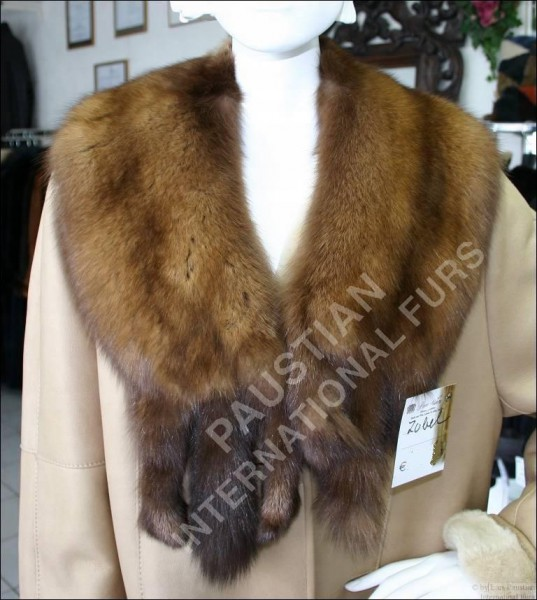154 Handmade Russian sable fur collar