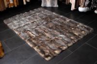 Natural Opossum Fur Rug made with Genuine Fur