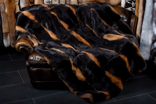 Rabbit fur blanket