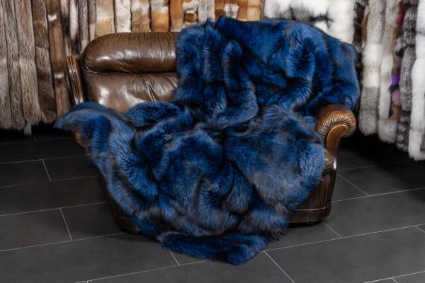 Blue Silver Fox Fur Throw From Scandinavian Foxes